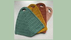 All Kinds of Things Pot Holders, Free Pattern, Diy And Crafts, Knitting, Sewing, Crochet, Accessories, Health, Baby