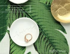 My DIY Clay Ring Dish - Saffron Avenue : Saffron Avenue