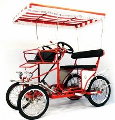 """I want one of these """"bicycles! Surrey cycles, Surrey bike, four wheel bicycle, 2 person bike, 4 person bicycle"""