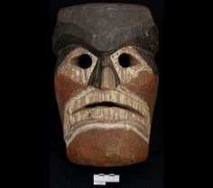 Humanoid mask   Museum of Natural and Cultural HistoryNuu-chah-nulth, Northwest Coast. Received 1938.