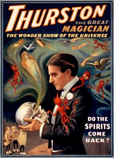 """Poster advertising an appearance by the magician Howard Thurston, the """"King of Cards."""" - c. 1915"""