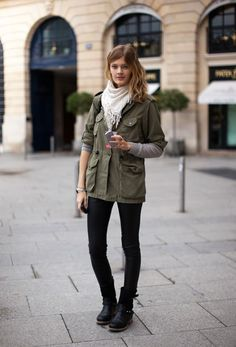 #coollookoftheday We love a good military jacket and this one by Aspesi just happens to be our favorite! CLick through to get the look!