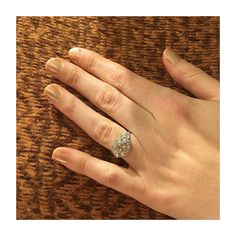 A vintage champagne diamond ring. Find your perfect engagement ring at Isadoras.com.