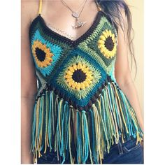 These sunflower fringe tops are up on my etsy!!! ✨ They can be ordered just like this, or you have the option to add a hood or change up the colors  Definitely one of my best sellers, and they're sooo much fun to dance in  You can find them here --> --> Etsy.com/shop/SharkbiteStitches <-- Link in bio