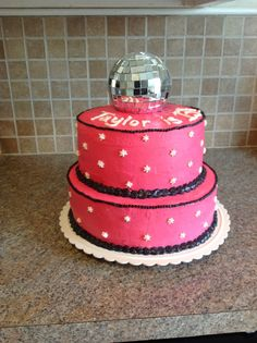 Disco Ball themed cake