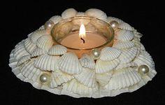 SEASHELL CANDLE HOLDER ~ NAUTICAL CHRISTMAS DECOR