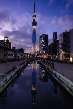 Tokyo - Japan (by かがみ~) Cool Landscapes, Beautiful Landscapes, Terra A Vista, Tokyo Skytree, Japan Architecture, Dark City, Tokyo Tower, City Aesthetic, Night City
