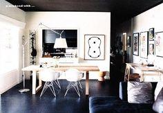 black floor,ceiling