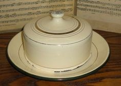 Vintage French Enamelware Butter Dish