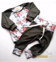 floral baby set newborn coming home set by BrooklynnsFinestBows