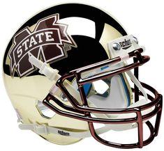 b97993eb5a5 Mississippi State Bulldogs Schutt XP Mini Helmet - Chrome Gold by Schutt