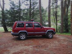 My jeep in our campsite