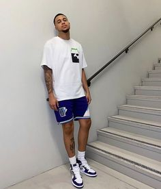 Dope Outfits For Guys, Summer Outfits Men, Stylish Mens Outfits, Simple Outfits, Ghetto Outfits, Hot Weather Outfits, Black Men Street Fashion, Black Men Summer Fashion, Winter Fashion