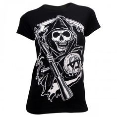 Sons of Anarchy Reaper Women's T-Shirt [Black]