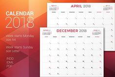 Monthly Planner 2018  @creativework247