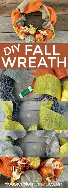 DIY FALL WREATH -- T