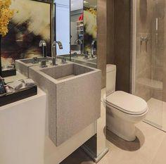 Inspiração ♡ #interiores #design #interiordesign #decor #decoração #decorlovers #archilovers #inspiration #ideias #banheiro #bathroom #claudiaalbertini #chrissilveira
