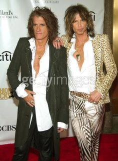 Guitarist Joe Perry and Steven Tyler of Aerosmith
