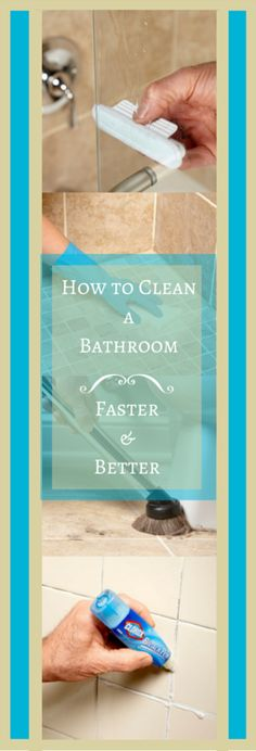 Clean your bathroom faster with these simple bathroom cleaning tips.