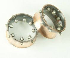 Photo of Plug Tunnel Mixed Metal Eyelet Sterling Silver Copper 0.64 inch (16,40mm) Gauge Ear Plugs