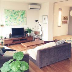 ROOMSさんのお部屋写真 at 2014-10-13 01:08:42 Diy Interior, Interior Architecture, Interior Design, Home Living Room, Apartment Living, Japanese Apartment, Moroccan Interiors, Furniture Placement, My Room