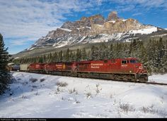 CP 8777 Canadian Pacific Railway GE at Castle Junction, Alberta, Canada by Mathieu Tremblay Canadian National Railway, Canadian Pacific Railway, Train Engines, Model Train Layouts, Diesel Locomotive, Train Tracks, Model Trains, Cool Pictures, Castle