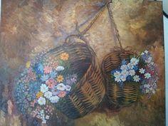 Cestos con flores
