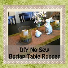 Gloriously Made: DIY No Sew Burlap Table Runner