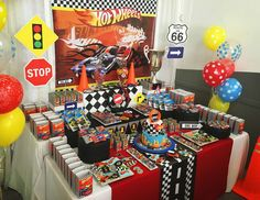"Hot Wheels / Birthday ""Hot Wheels, full speed"" | Catch My Party"