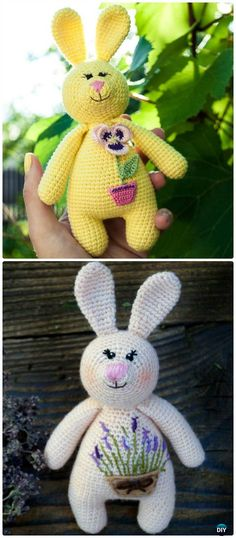 Crochet Amigurumi Bunny Baby Rattle Toy Free Pattern #Crochet;
