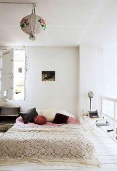 simple, white, bohemian