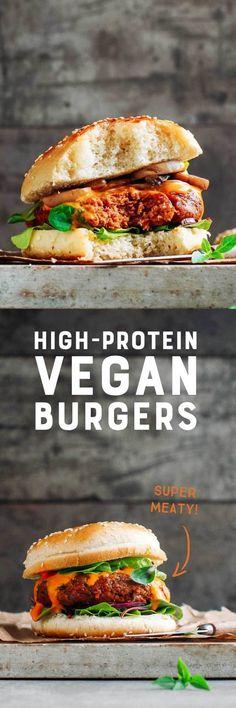 High-Protein Vegan Burgers - Full of Plants