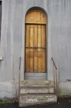 Beautiful old style door at Frangos & Frangos, the restaurant and Hotel in Vincent Street Daylesford in Victoria Australia