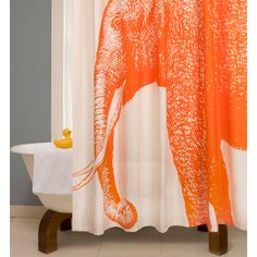 Elephant Shower Curtain.. $120.00 + convincing the men in my house I need it= rock and a hard place.