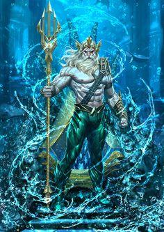 Aquaman by Alex Malveda : ImaginaryDC Dc Comics Characters, Dc Comics Art, Fantasy Characters, Marvel Comics, Aquaman Comics, Greek Mythology Gods, Greek Gods And Goddesses, Univers Dc, Comic Book Collection