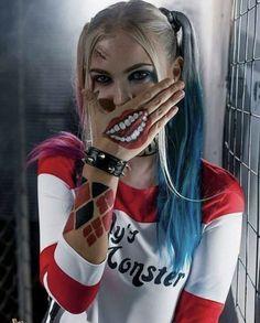 38 Ideas For Makeup Halloween Joker Harley Quinn Harley Quinn Et Le Joker, Harley Quinn Halloween, Harley Quinn Drawing, Margot Robbie Harley Quinn, Harley Quinn Cosplay, Joker Cosplay, Cosplay Makeup, Der Joker, Joker Art