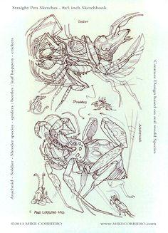 Shredders - sketchbook doodles by MIKECORRIERO.deviantart.com on @deviantART