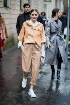 Olivia Palermo seen outside Tods during Milan Fashion Week Fall/Winter 2018/19 on February 23 2018 in Milan Italy