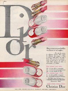 Christian Dior (Cosmetics) 1964 Nail Polish, Lipstick