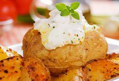 Ofenkartoffeln gefüllt mit Topfen