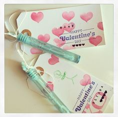 Valentine's Day Tags, Non-Candy Classroom Party Gift Ideas