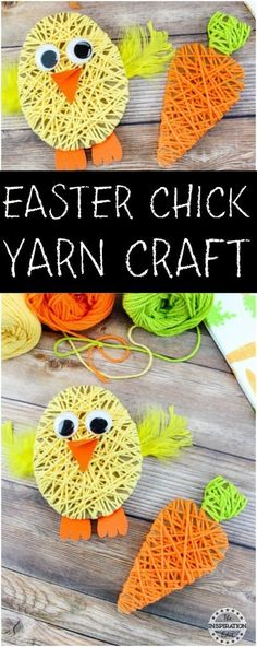 Chick Yarn Art Project Easter Chick Yarn Craft - Tutorial on the Inspiration Edit. A simple, easy and fun easter crafts for little ones.Easter Chick Yarn Craft - Tutorial on the Inspiration Edit. A simple, easy and fun easter crafts for little ones. Yarn Crafts For Kids, Easter Arts And Crafts, Spring Crafts, Preschool Crafts, Holiday Crafts, Fun Crafts, Craft Activities, Easy Yarn Crafts, Easter Crafts For Toddlers