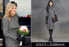 Queen Maxima Wore Dolce & Gabbana Microprint Dress