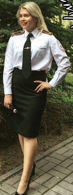 Police Officer Dressed In Formal Work Uniform
