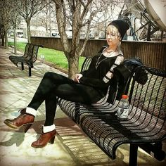 A Lesson In Wearing High Heels ~ INFEKTED #highheels #heels #boots #outfit #outfitoftheday #ootd #style #rockerchic #tattoos #tattooed #tattooedwomen #tattooedgirls #ink #inked #inkedgirls #chickswithink