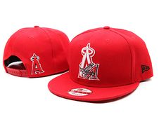 New Era MLB Los Angeles Anaheim Snapback Hats Caps Red 3567! Only $7.90USD