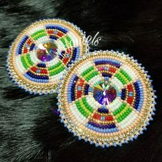 Earring Bling For sale $60 - extra for shipping NO HOLDS EMT Accepted #beadedbling #beadedearrings #beadwork #native #aboriginal #indigenous #firstnations #sewbeadifuldesigns #tiadaniels