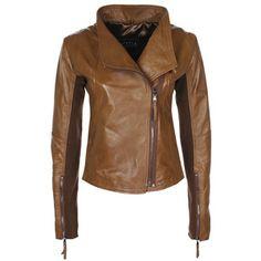 Minimal Biker Jacket Wmn's Brown, 344€, now featured on Fab.