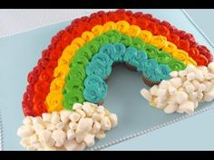 Pull Apart Cupcake Cakes | ... Cupcake Pull-Apart Cake! Make a Rainbow cake out of Mini Cupcakes