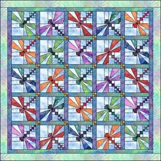 dragonfly baby quilt